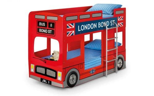 London Bus Bunk Bed, Red