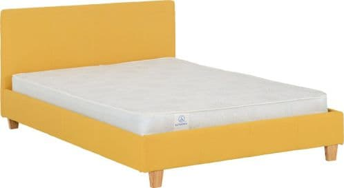 Lucy Double Bed Mustard