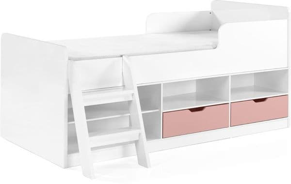 Mabe Kids Low Sleeper Bed, Pink