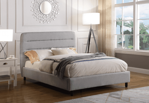 Malibu King Size Bed, Light Grey