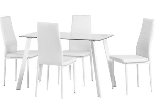 Verity Dining Set White