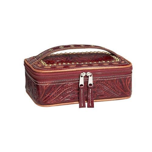 Cherry Leather Cosmetic Case