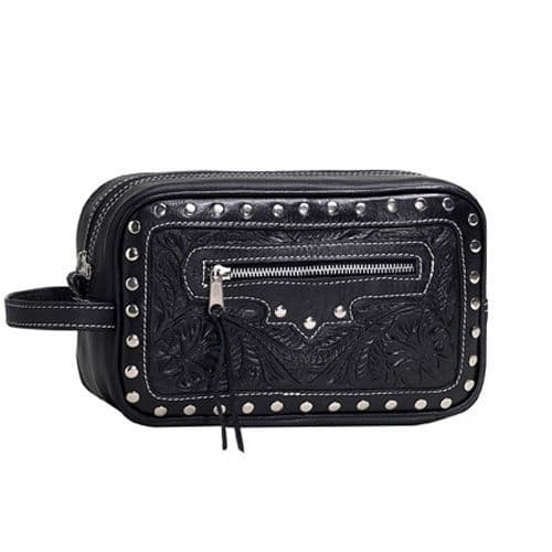Men`s Black Leather Accessory Bag