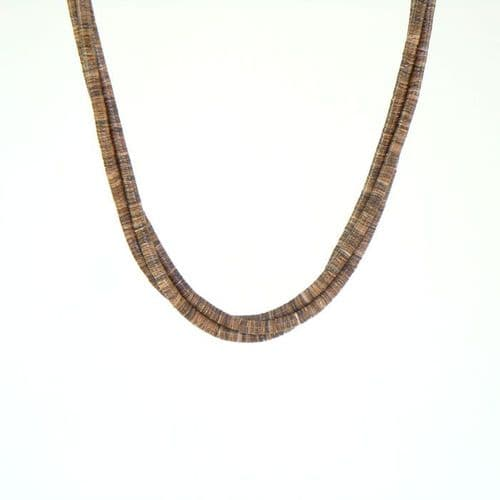Olive Shell Heishi Necklace