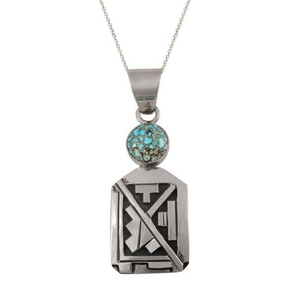Sterling Silver and Dry Creek Turquoise Pendant