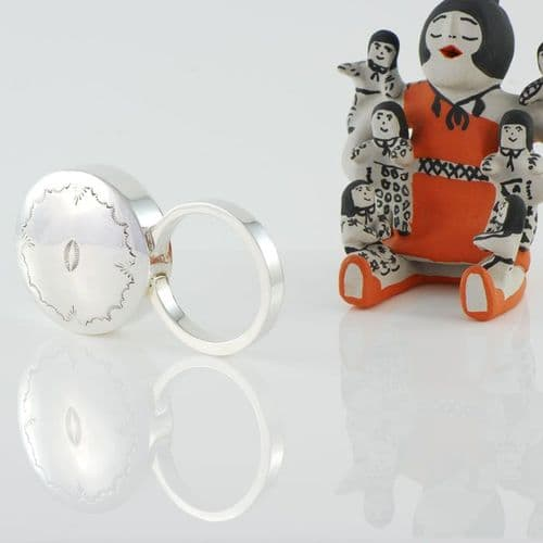 Sterling Silver Round Baby Rattle