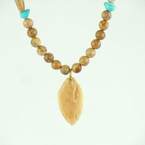 Turquoise, Jasper and Fossil Ivory Necklace
