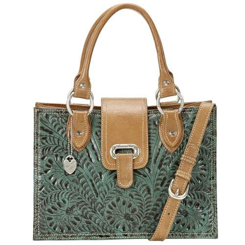 Turquoise Leather Crossbody Bag