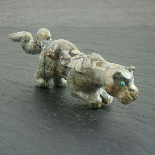 Zuni Mountain Lion Carving By Clive Hustito