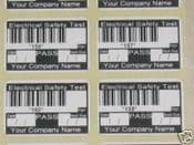 PAT Test PASS with Barcode ID Stickers, ...Personalised