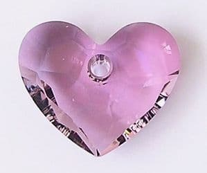 6264 Swarovski Truly in Love Heart pendant 18mm Antique Pink