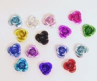 100 Aluminium Flower Beads 4x7mm Mixed