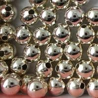 100 Sterling Silver Round Beads 2mm