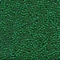 15g MATSUNO 11/0 SEED BEADS -OPAQUE FOREST GREEN-