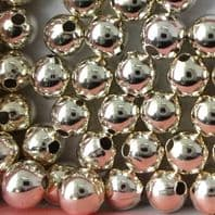 20 Sterling Silver Round Beads 3mm