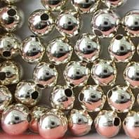20 Sterling Silver Round Beads 4mm