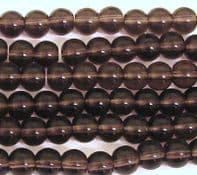 200 Glass Round Beads 4mm Amethyst