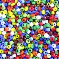 500g Opaque Glass Seed Beads 11/0 Rainbow