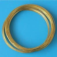 80 Coils Gold Plated Memory Wire Dia 55- 60mm Bracelet