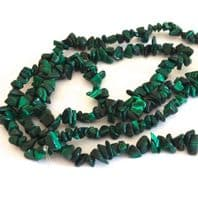 Gemstone Malachite Chip Beads 5-9mm 34 Inch