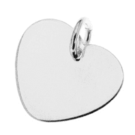 Sterling Silver Heart Pendant for Engraving 20mm