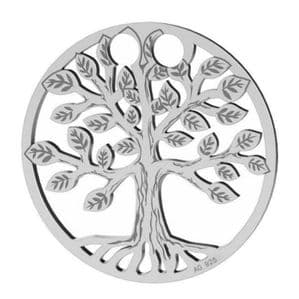 Sterling Silver Tree Of Life Charm 19mm Pendant
