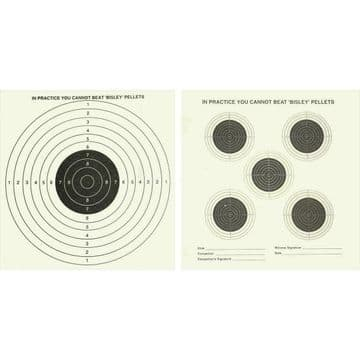 Bisley 17cm Double Sided Five and One Targets Grade 1