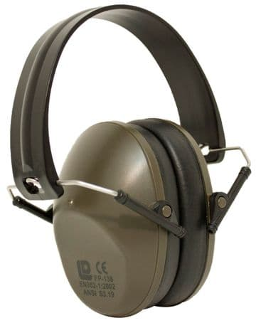 Bisley Compact Ear Defenders Cans - Ear Muffs Hearing Protection For Shooting