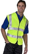 High visibility Vest Yellow