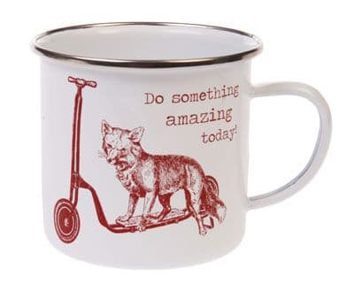 'Do Something Amazing Today'  Fox Enamel Mug