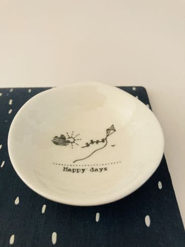 'Happy Days' Porcelain Wobbly Bowl, Small
