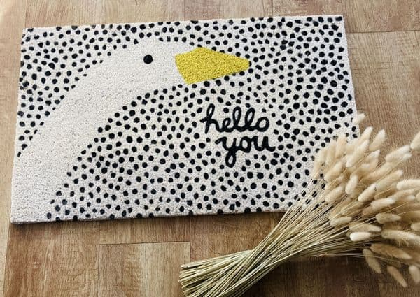 'Hello You' Goose Doormat