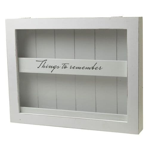 'Things to Remember' Keepsake Treasures, Wooden Memory Display Box
