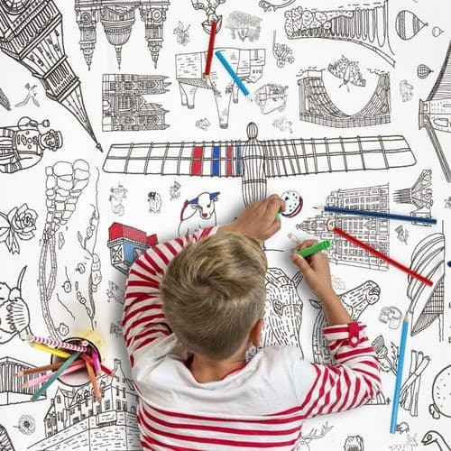 Colour In Poster/Giant Colouring Tablecloth, Great Britain