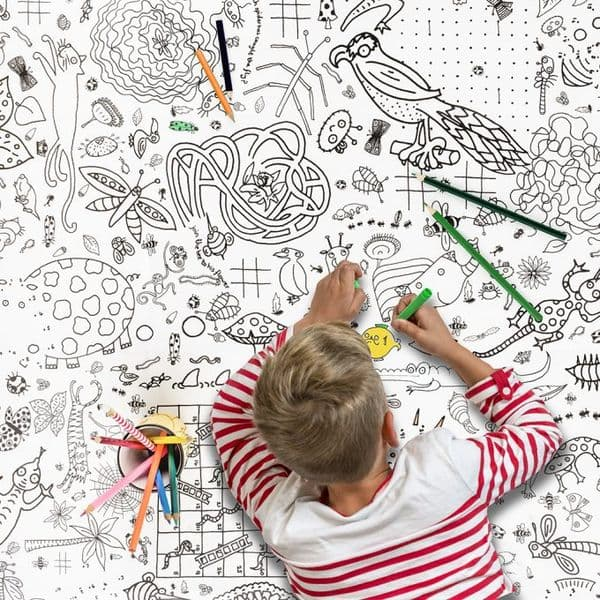 Colour In Poster/Giant Colouring Tablecloth, Puzzle Time