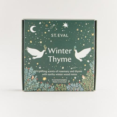 Gift Boxed Scented Tea Light Candles, Winter Thyme