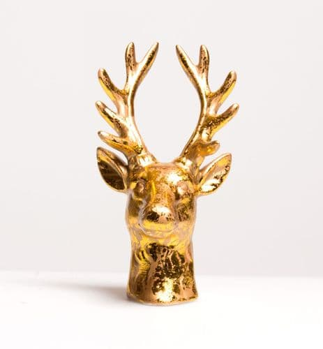 Gilded Stag Head Trinket Ring holder