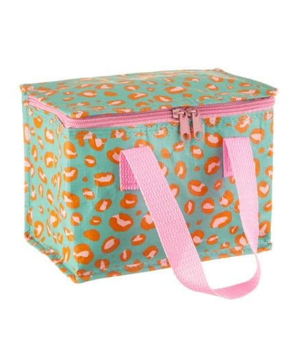 Insulated Lunch Bag - Bright Leopard Love Print