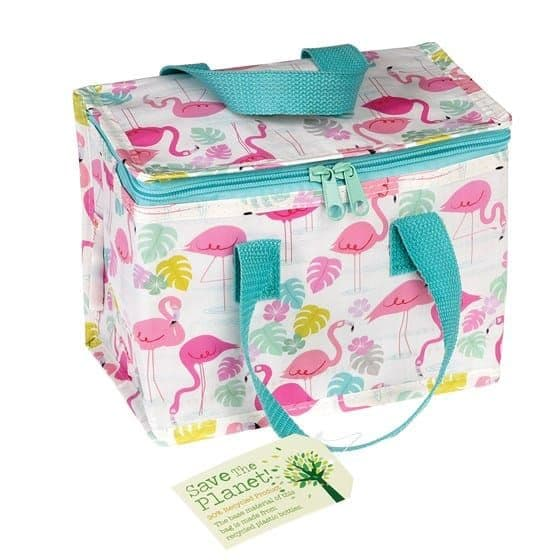 Insulated Lunch Bag - Tropical Flamingo Print