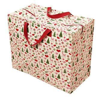 Jumbo Storage Bag - Retro 1950's Christmas