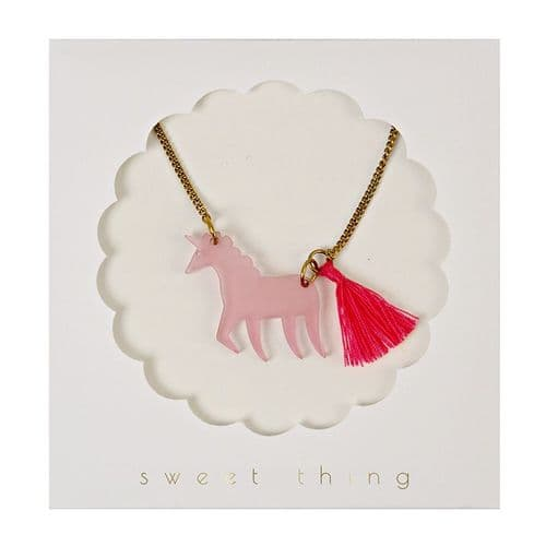 Magical Pink Unicorn Necklace