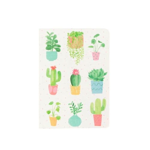 Pastel Cactus and Succulent Notebook