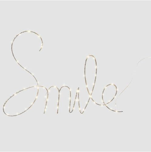 Smile LED Wall Light, Battery Operated
