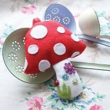 Toadstool Sewing Kit by the Crafty Kit Company