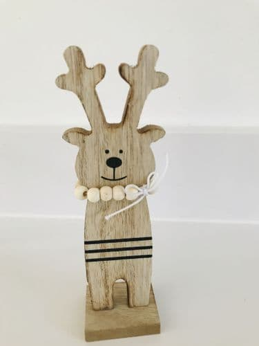 Wooden Standing Deer, Christmas Decoration