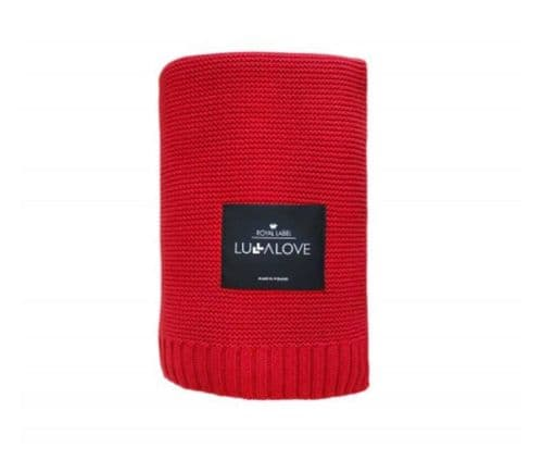 Lullalove BAMBOO BLANKET 80x100  (red)
