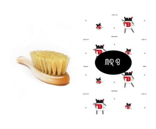 Lullalove BRUSH NATURAL BRISTLES WITH MUSLIN WASHCLOTH