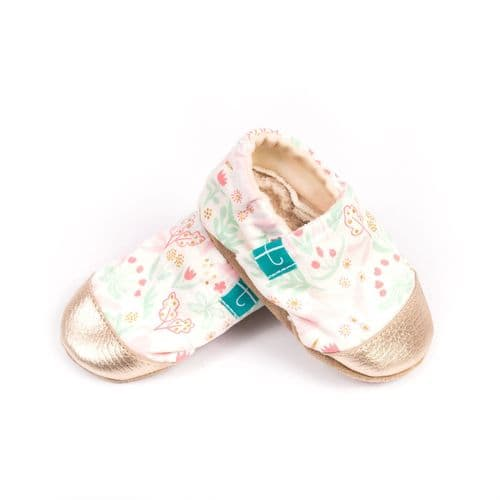Titot SLIPPERS WITH LEATHER TOE WHITE MAGIC