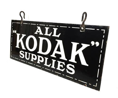 Antique Large Enamel Kodak Advertising Shop Sign by Cooper Bond of London c.1925