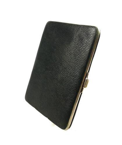 Antique Leather Gentleman's Wallet / Purse / Card Case / Edwardian / Green